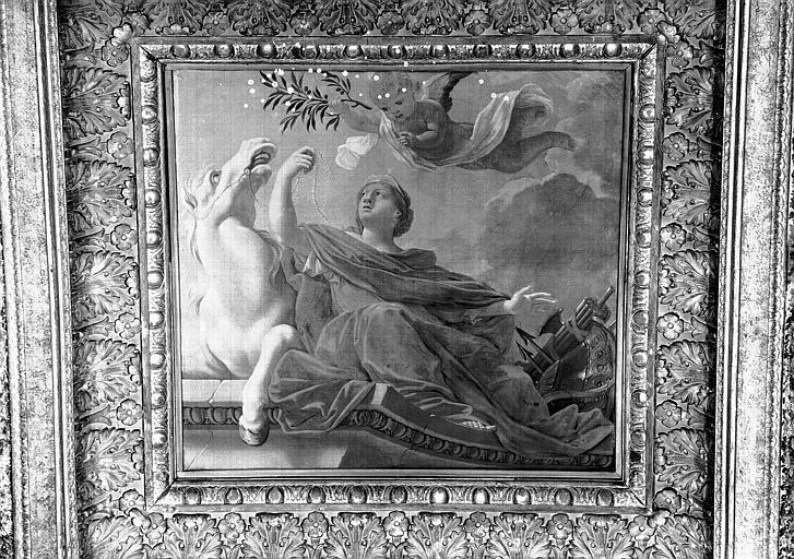 1e salle de la Colonnade, peinture du caisson nord-est du plafond : L'Europe