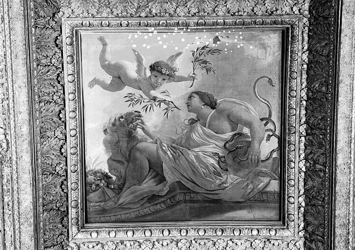 1e salle de la Colonnade, peinture du caisson sud-est du plafond : L'Afrique