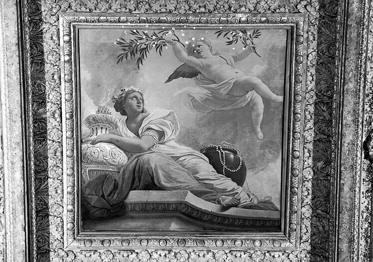 1e salle de la Colonnade, peinture du caisson sud-ouest du plafond : L'Asie