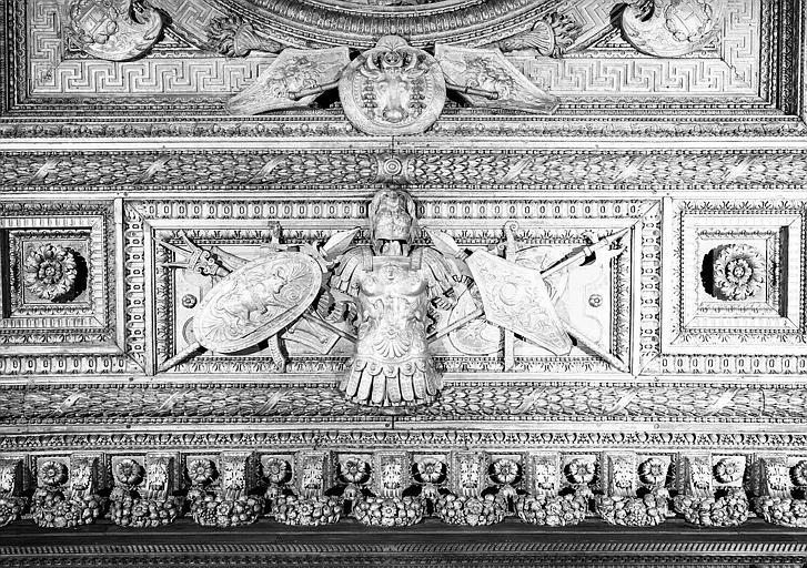 Chambre de parade de Henri II : Détail du plafond