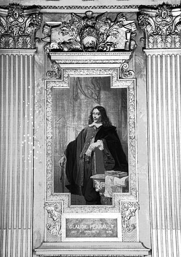 Galerie d'Apollon : Tapisserie représentant Claude Perrault, architecte (1613-1688)