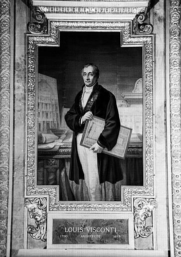 Galerie d'Apollon : Tapisserie représentant Louis Visconti, architecte (1790-1853)
