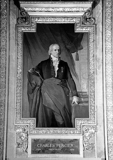 Galerie d'Apollon : Tapisserie représentant Charles Percier, architecte (1764-1838)