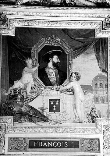 Galerie d'Apollon : Tapisserie représentant François 1er