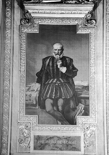 Galerie d'Apollon : Tapisserie représentant Philibert de Lorme, architecte mort en 1577