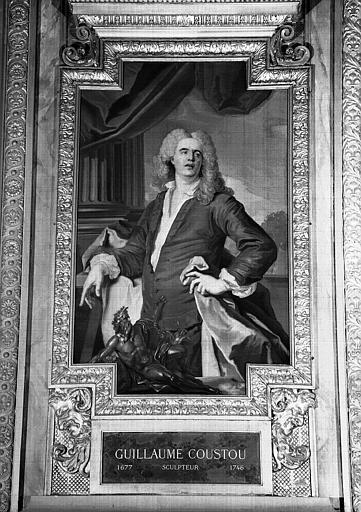 Galerie d'Apollon : Tapisserie représentant Guillaume Coustou, sculpteur (1677-1746)