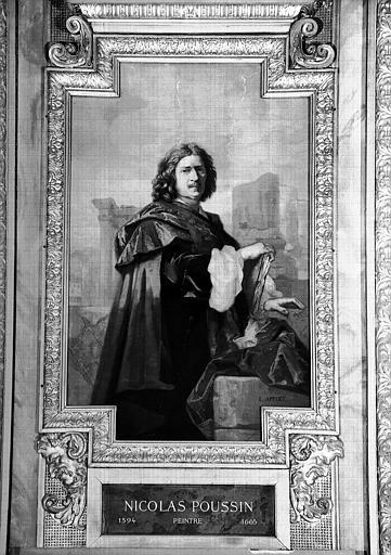 Galerie d'Apollon : Tapisserie représentant Nicolas Poussin, peintre (1594-1665)