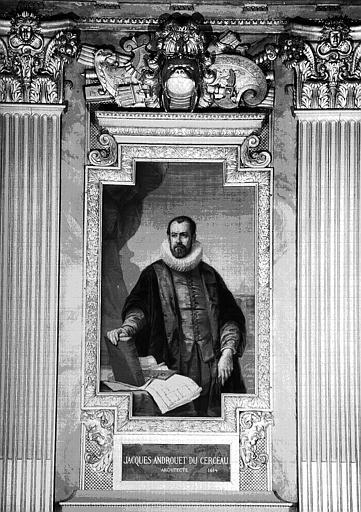 Galerie d'Apollon : Tapisserie représentant Jacques Androuet-du-Cerceau, architecte mort en 1614