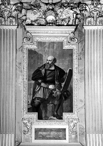 Galerie d'Apollon : Tapisserie représentant Pierre Lescot, architecte (1510-1571)