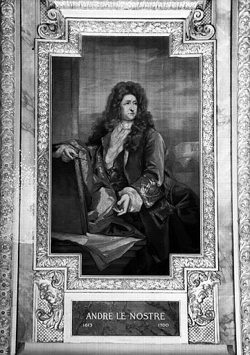 Galerie d'Apollon : Tapisserie représentant André Le Nostre (1613-1700)