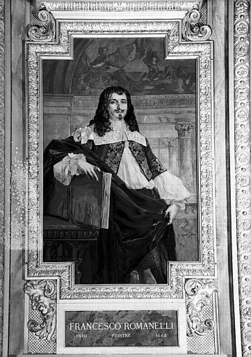 Galerie d'Apollon : Tapisserie représentant Francesco Romanelli, peintre (1610-1662)