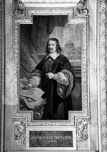 Galerie d'Apollon : Tapisserie représentant Jacques Le Mercier, architecte