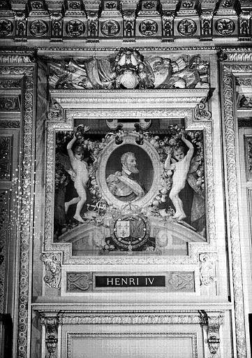 Galerie d'Apollon : Tapisserie représentant Henri IV