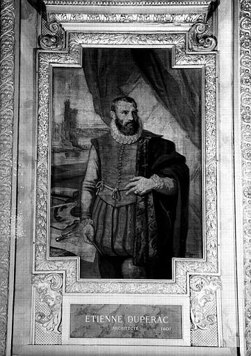 Galerie d'Apollon : Tapisserie représentant Etienne Duperac, architecte mort en 1601