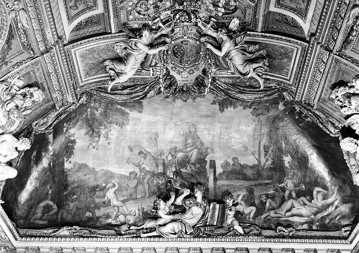 Galerie d'Apollon, peinture de la lunette nord du plafond : Le Triomphe de la Terre