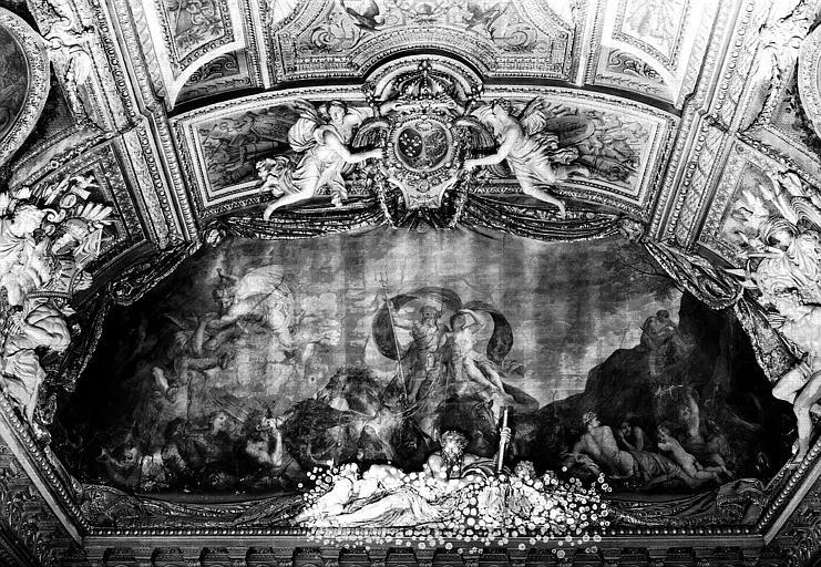 Galerie d'Apollon, lunette sud du plafond côté est : Le Triomphe des Eaux