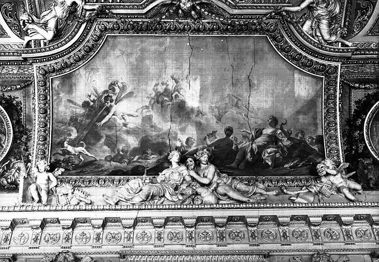 Galerie d'Apollon, plafond peint côté ouest : L'Eté