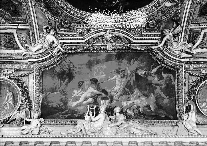 Galerie d'Apollon, plafond peint côté ouest : L'Hiver