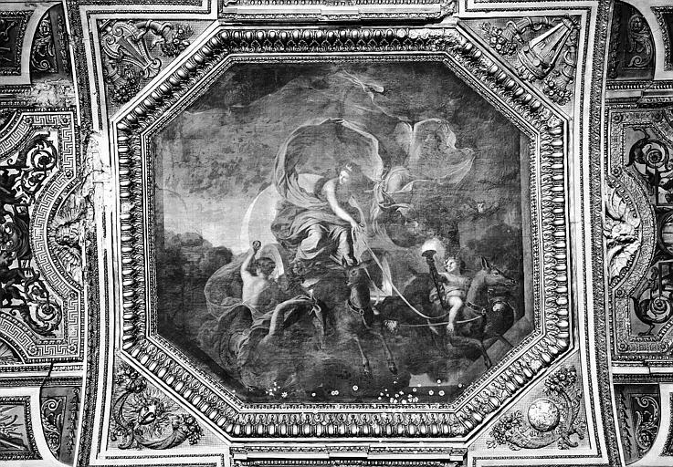 Galerie d'Apollon, partie centrale du plafond peint : La Nuit de Diane