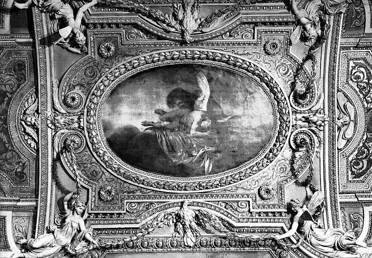 Galerie d'Apollon, partie centrale du plafond peint : Le Soir ou Morphée