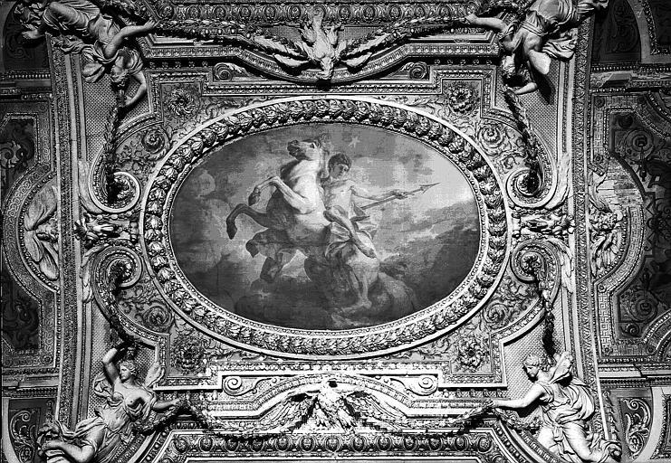 Galerie d'Apollon, partie centrale du plafond peint : Castor