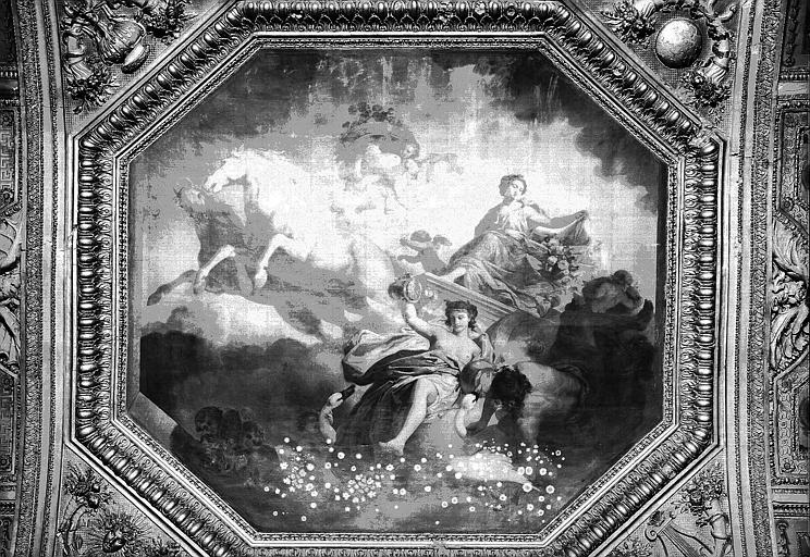 Galerie d'Apollon, partie centrale du plafond peint : L'Aurore