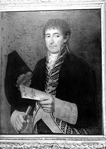 Peinture sur toile : Portrait de Francisco Rodriguez (?), dignitaire de la Cour d'Espagne