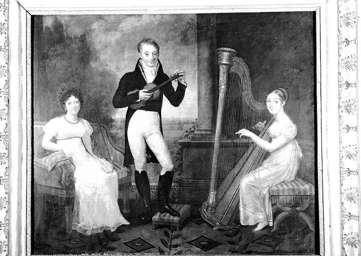 Peinture sur toile : La leçon de musique