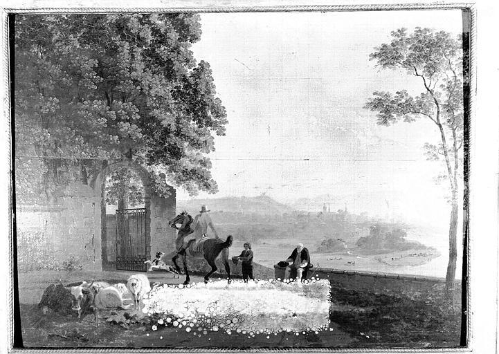 Panneau peint : Paysage des environs de Berne