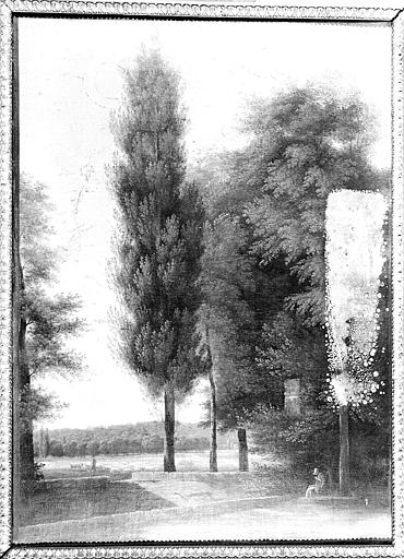 Peinture sur toile : Vue prise du parc de Versailles, en face Roquencourt