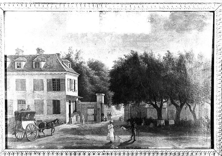 Peinture sur toile : Ancienne entrée du parc de Saint-Cloud à Ville d'Avray