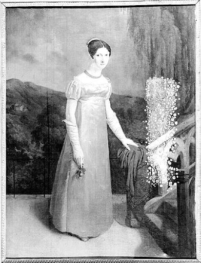 Peinture sur toile : Portrait de jeune femme, Mme de B.