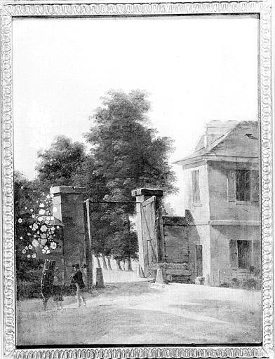 Peinture sur toile : Vue prise à l'entrée du parc de Saint-Cloud