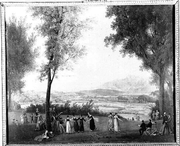 Peinture sur toile : Vue de Pau