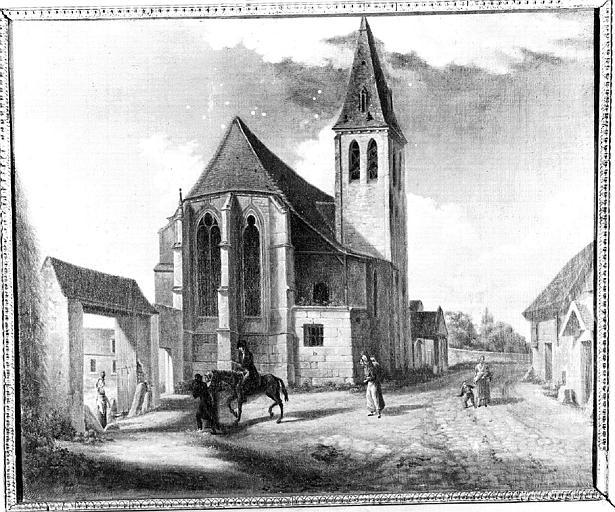 Peinture sur toile : Eglise