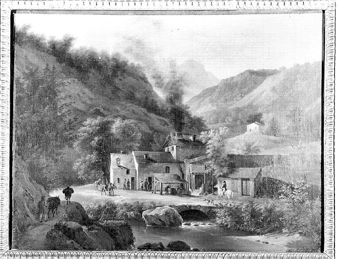 Peinture sur toile : Vue prise dans le Dauphiné