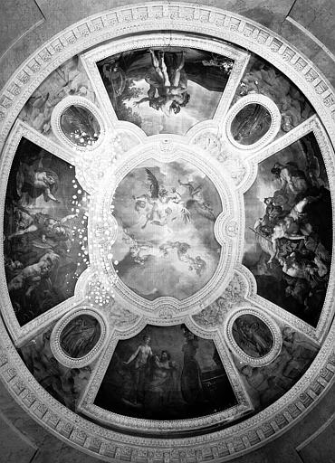 Rotonde d'Apollon : Ensemble des peintures du plafond