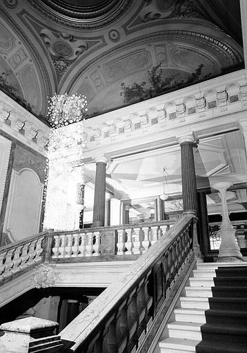 Grand escalier : Vue d'ensemble du palier du second étage