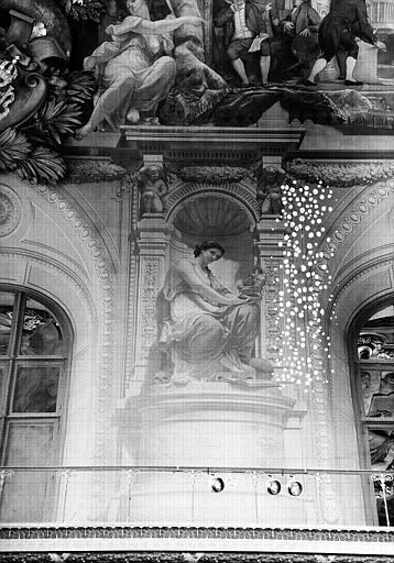 Salle Denon, peinture de la voussure côté sud du plafond : Stadium