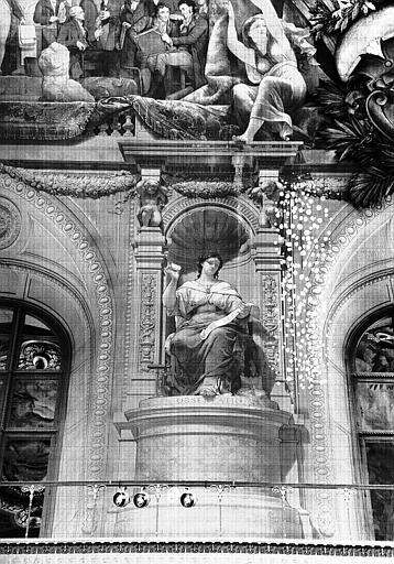 Salle Denon, peinture de la voussure côté sud du plafond : Observatio