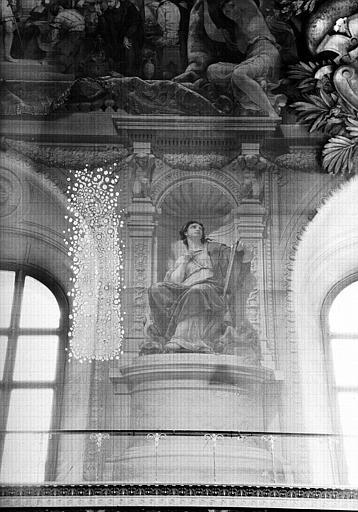 Salle Denon, peinture de la voussure nord du plafond : Imaginandi