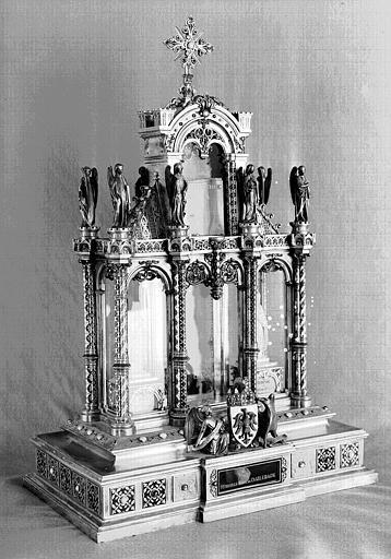 Reliquaire du Talisman de Charlemagne (trois-quarts)