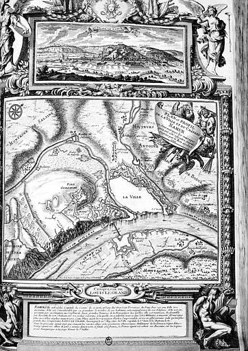 Plan et profil de la ville et du château... où sont marqués les ouvrages qui ont été ajoutés depuis sa prise par le Roi en 1692