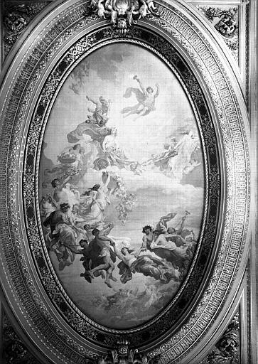 Cabinet des Dessins, plafond peint : Le Triomphe de Flore