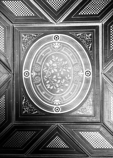 Direction des Musées : Détail d'un caisson du plafond du couloir