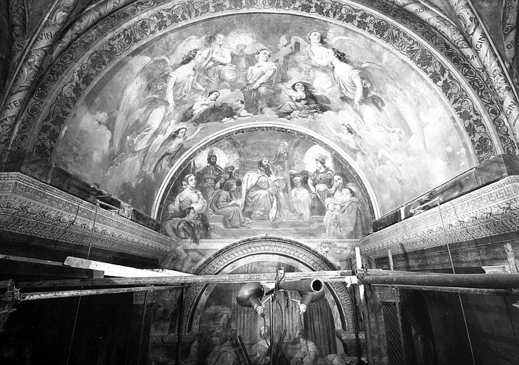 Peintures murales de la chapelle de la Vierge : Vue générale