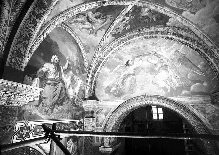 Peintures murales de la chapelle de la Vierge : Vue d'ensemble