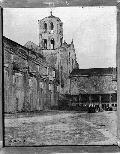 Toile peinte : Eglise vue de l'extérieur
