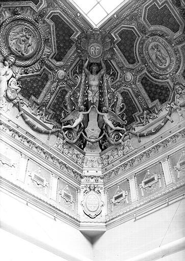 Salon carré : Angle nord-ouest du plafond