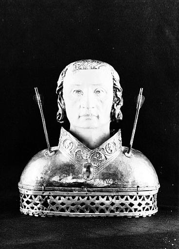 Buste-reliquaire de saint Sébastien (face)